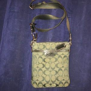 Coach Hunter green crossbody purse